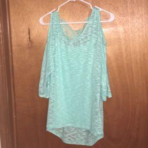 Sea green blouse